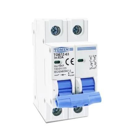 Disjuntor DC/CC 16A 1000V Bipolar P/ Painéis Solar / Baterias