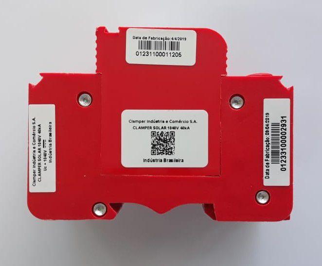 DPS - Dispositivo Proteção Surtos DC/CC CLAMPER SOLAR 1040V 40kA