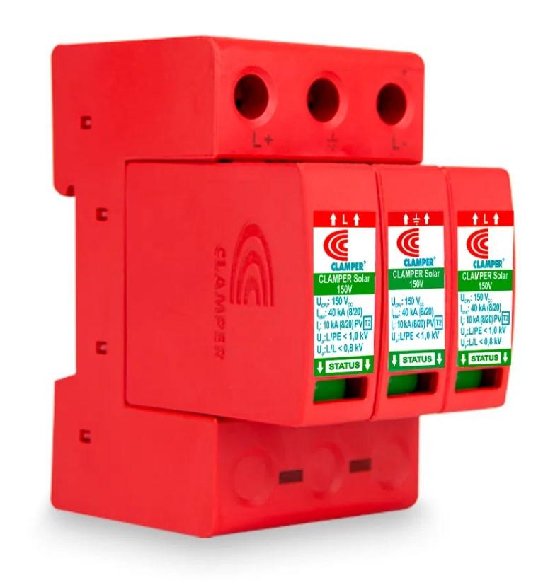 DPS - Dispositivo Proteção Surtos DC/CC CLAMPER SOLAR 150V 40kA