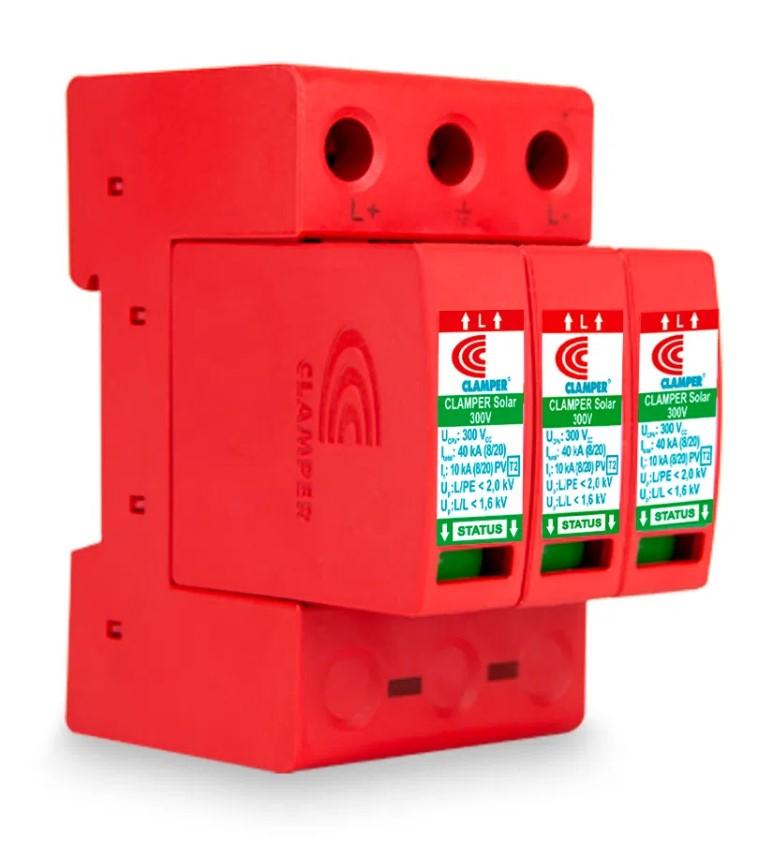 DPS - Dispositivo Proteção Surtos DC/CC CLAMPER SOLAR 300V 40kA