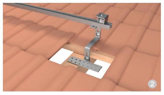 Estrutura Suporte 2 Painéis Solares Telha Cerâmica Cimento