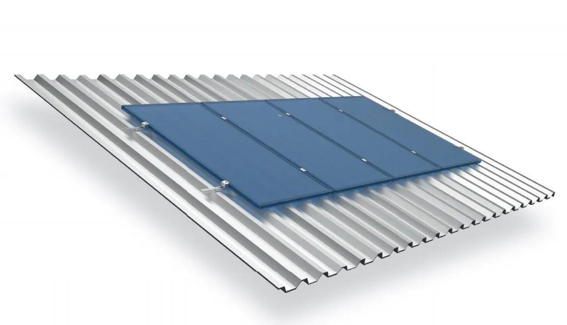 Estrutura Suporte 3 Painéis Solares Telha Metálica Trapezoidal