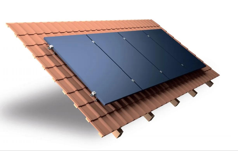 Estrutura Suporte 4 Painéis Solares Telha Cerâmica Cimento 5F