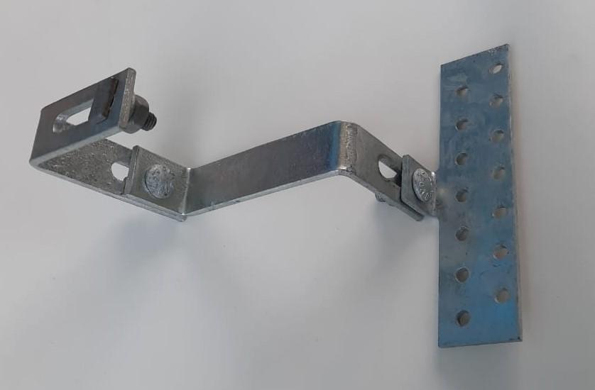 Estrutura Suporte Fixador P/ Perfil Painel Solar Galvanizado p/ Telha Cerâmica / Cimento c/ 10 Un