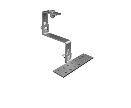 Estrutura Suporte Fixador P/ Perfil Painel Solar Galvanizado p/ Telha Cerâmica / Cimento c/ 12 Un