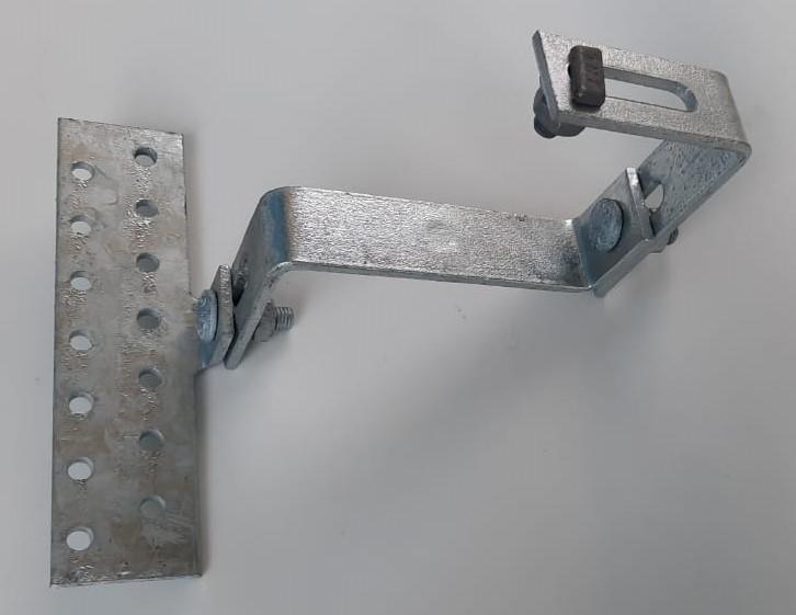 Estrutura Suporte Fixador P/ Perfil Painel Solar Galvanizado p/ Telha Cerâmica / Cimento c/ 14 Un