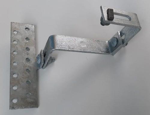 Estrutura Suporte Fixador P/ Perfil Painel Solar Galvanizado p/ Telha Cerâmica / Cimento c/ 8 Un