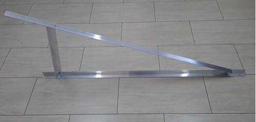 Estrutura Suporte p/ 2 Painéis Solares - Laje