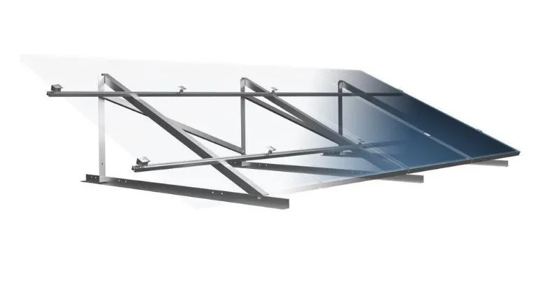 Estrutura Suporte p/ 4 Painéis Solares - Laje