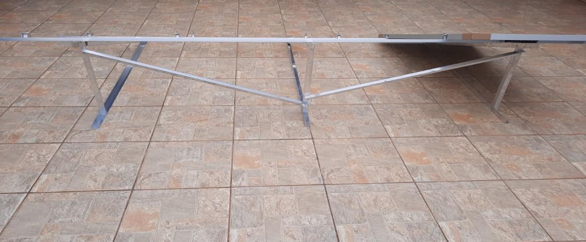 Estrutura Suporte p/ 4 Painéis Solares - Laje 4,40M