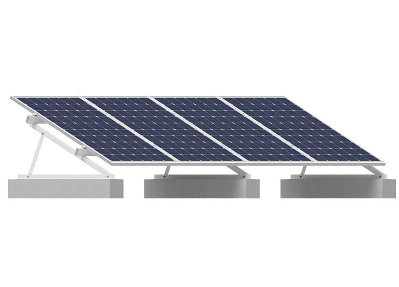 Estrutura Suporte p/ 4 Painéis Solares Laje Solar Group Thunder