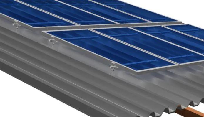 Estruturas Suporte P/ 2 Painéis Solares Telha Ondulada Rosca Dupla
