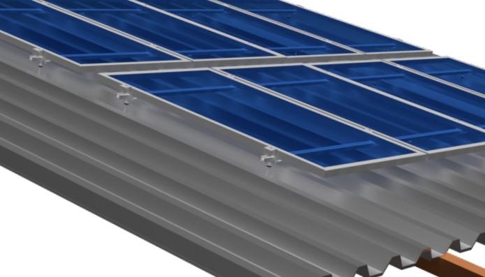 Estruturas Suporte P/ 4 Painéis Solares Telha Ondulada Rosca Dupla 4,40m