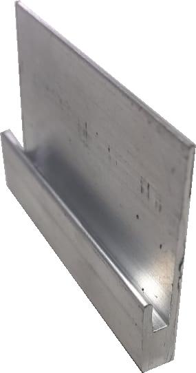 Extensor 40mm p/ Fixador Z Final P/ Painéis Solares - End Clamp