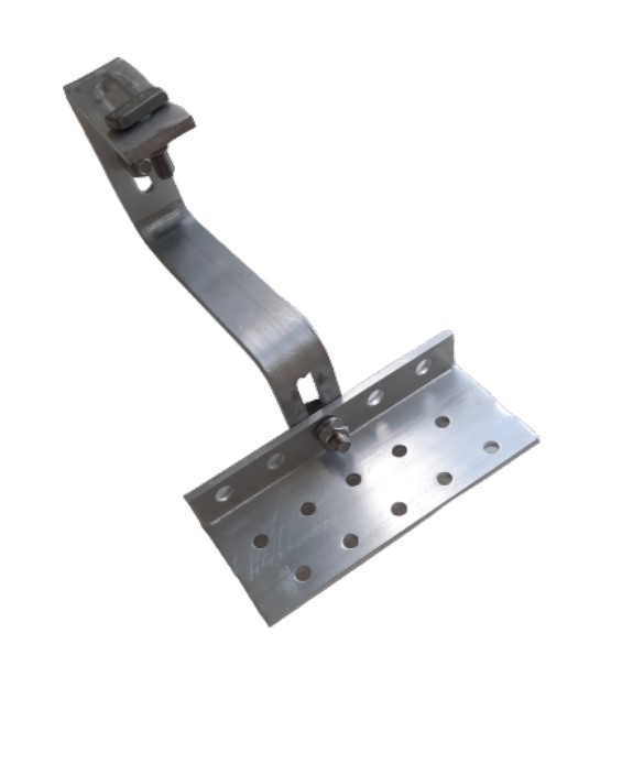 Fixador Gancho Estrutura Suporte P/ Perfil Painel Solar p/ Telha Colonial Alumínio 5F C/ 8un