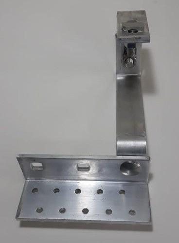 Fixador Gancho Estrutura Suporte P/ Perfil Painel Solar p/ Telha Colonial Alumínio