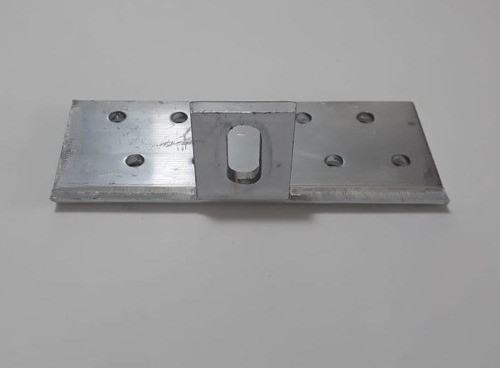 Fixador Gancho Estrutura Suporte P/ Perfil Painel Solar p/ Telha Colonial Alumínio Oblongo