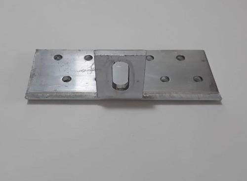 Fixador Gancho Estrutura Suporte P/ Perfil Painel Solar p/ Telha Colonial Alumínio Oblongo C/ 4un