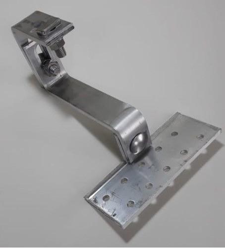 Fixador Gancho Estrutura Suporte P/ Perfil Painel Solar p/ Telha Colonial Alumínio Oblongo C/ 6un