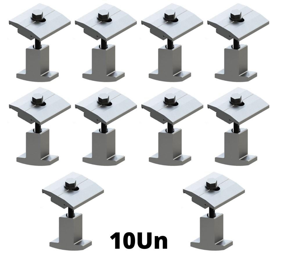 Fixador Grampo Intermediário Middle-Clamp Smart Solar Group - c/ 10un