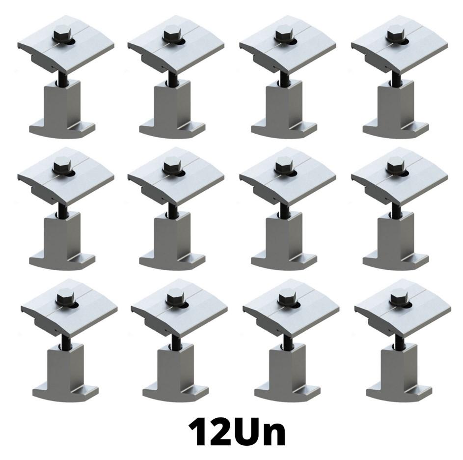 Fixador Grampo Intermediário Middle-Clamp Smart Solar Group - c/ 12un