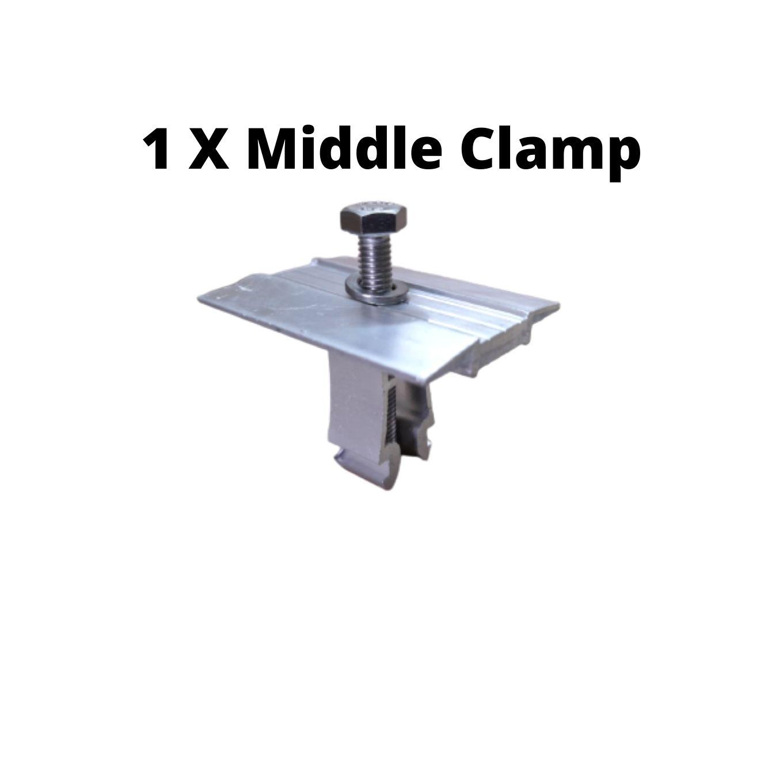 Fixador  V Intermediário P/ Painéis Solares- Middle Clamp