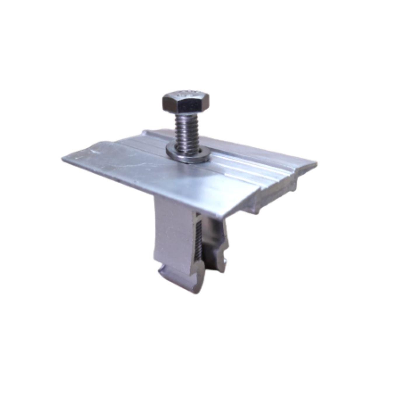 Fixador  V Intermediário P/ Painéis Solares- Middle Clamp c/ 4un
