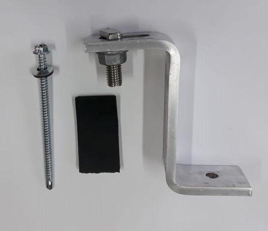 Fixador Z Estrutura Suporte p/ Telha Ondulada Zinco ou Fibrocimento Alumínio c/ 8un