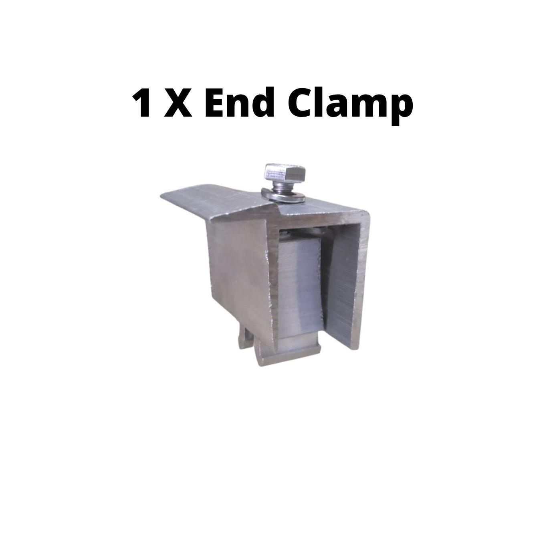 Fixador Z Final P/ Painéis Solares - End Clamp