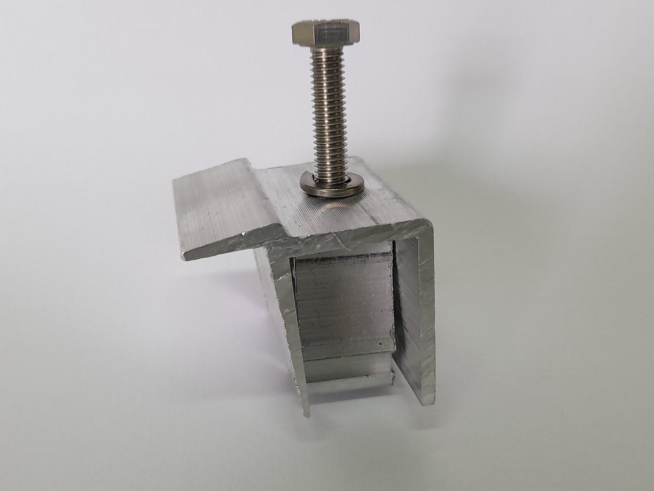 Fixador Z Final P/ Painéis Solares - End Clamp C/ 10un