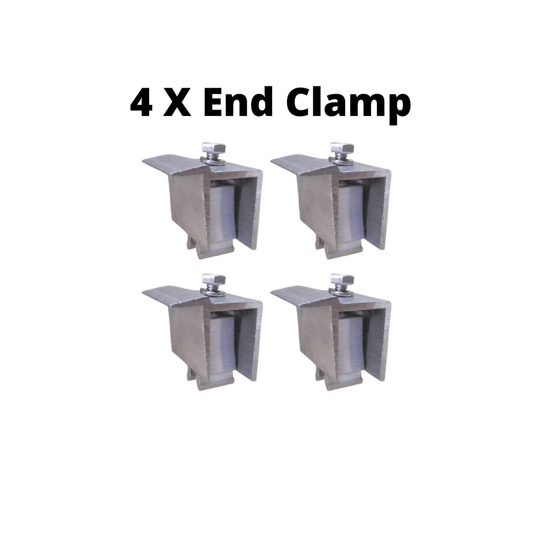 Fixador Z Final P/ Painéis Solares - End Clamp C/ 4un
