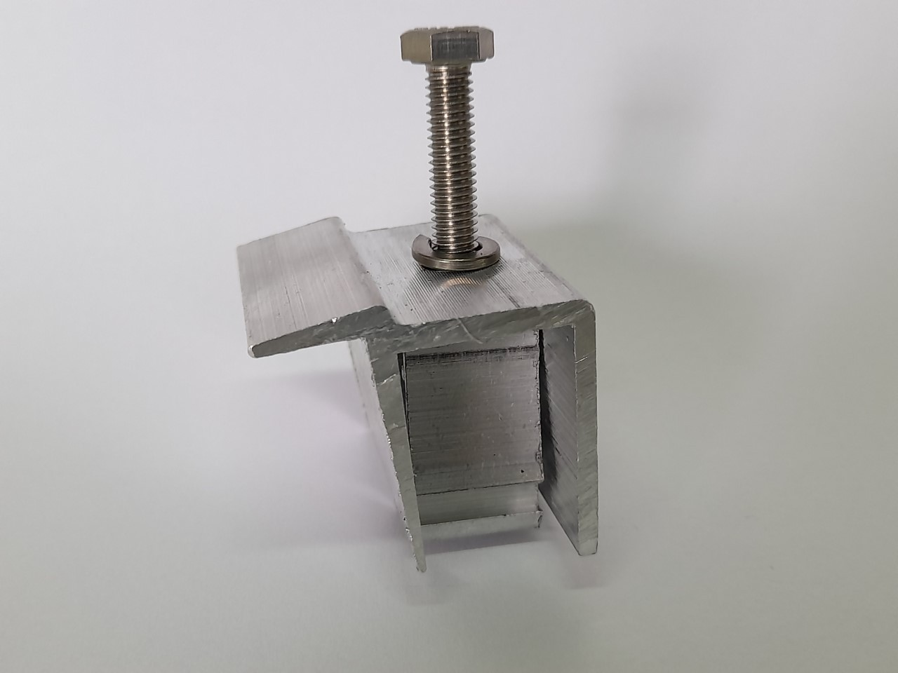 Fixador Z Final P/ Painéis Solares - End Clamp C/ 6un