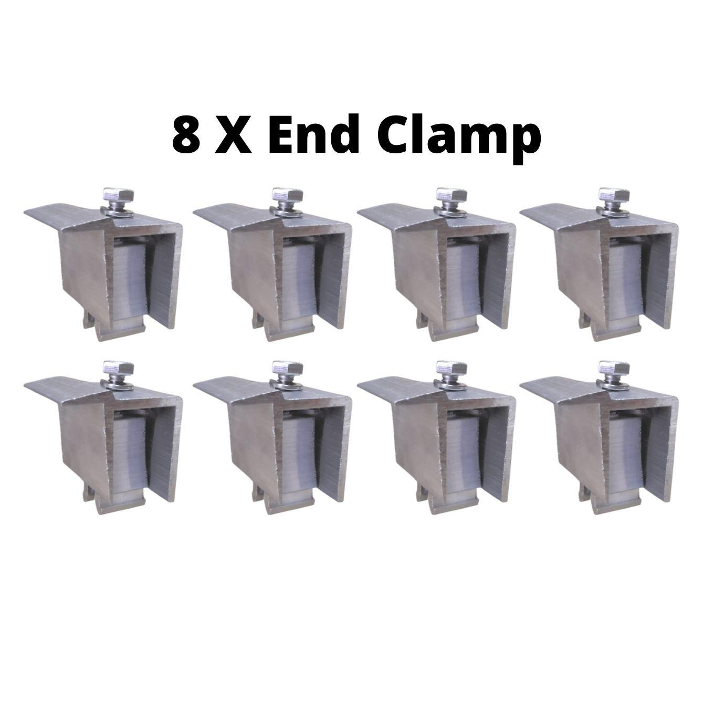 Fixador Z Final P/ Painéis Solares - End Clamp C/ 8un