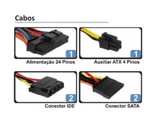 Fonte Bluecase BLU350-K ATX 350W BOX