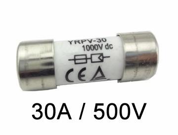 Fusível Cartucho P/ Seccionadora DC 500V / 30A 10X38 GPV