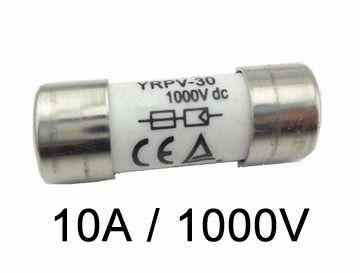 Fusível P/ Seccionadora DC 1000V / 10A 10x38 GPV C/ 10un