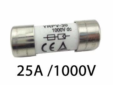 Fusível P/ Seccionadora DC 1000V / 25A 10X38 GPV CX C/ 10Un