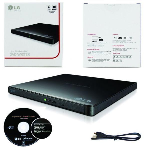 Gravador Externo de CD/DVD e Leitor de CD/DVD LG - GP65NB60