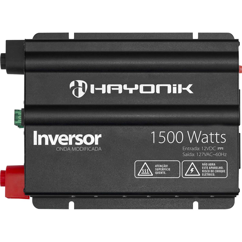 Inversor 1500W 12VDC/127V Onda Modificada HY