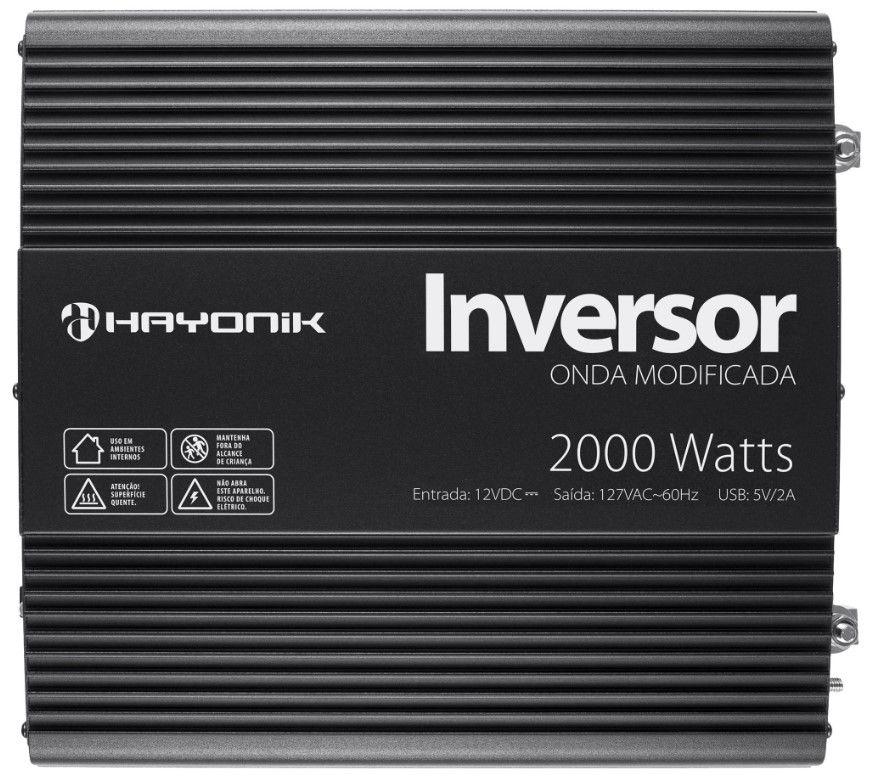 Inversor 2000W 12VDC/127V Onda Modificada HY