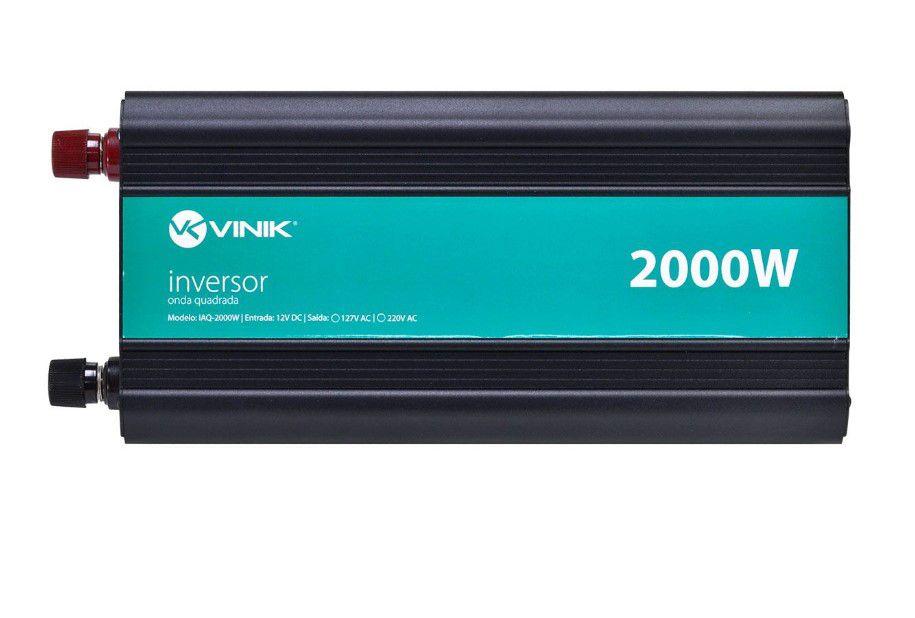 INVERSOR 2000W 12VDC/220V ONDA MODIFICADA VINIK