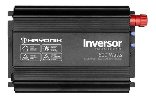 Inversor 500W 12VDC/127V Onda Modificada HY