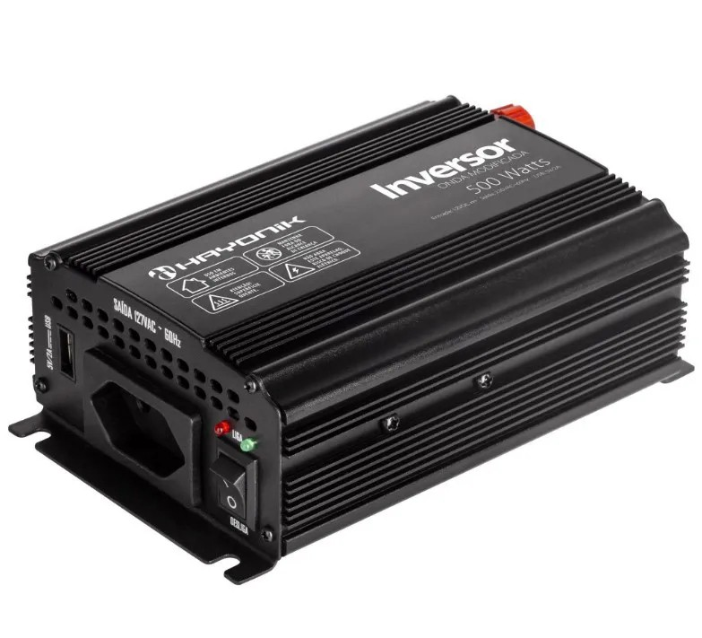 Inversor de Onda Modificada 500W 12VDC/220V HAYONIK - PW13-1