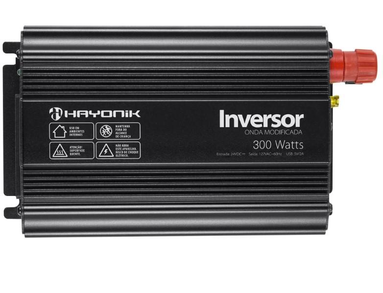 Inversor de Onda Modificada 300W 24VDC/127V HAYONIK - PW11-8