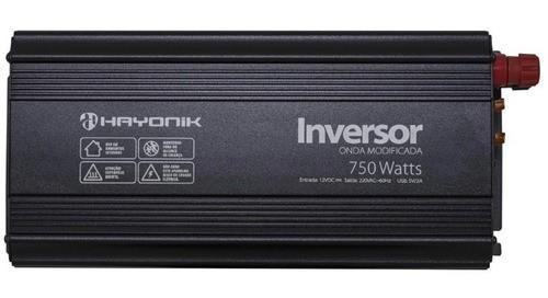 Inversor de Onda Modificada 750W 12VDC/220V PW12-3 HAYONIK