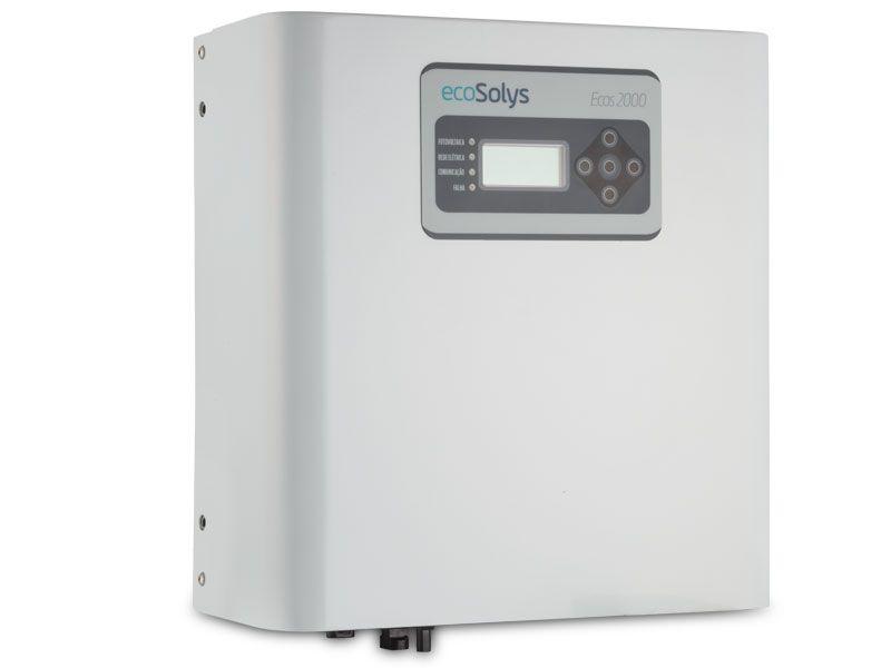 Inversor Solar Grid-Tie Ecosolys Ecos-2000 Plus 2kw Monofásico 220v  + EcoWeb-Box