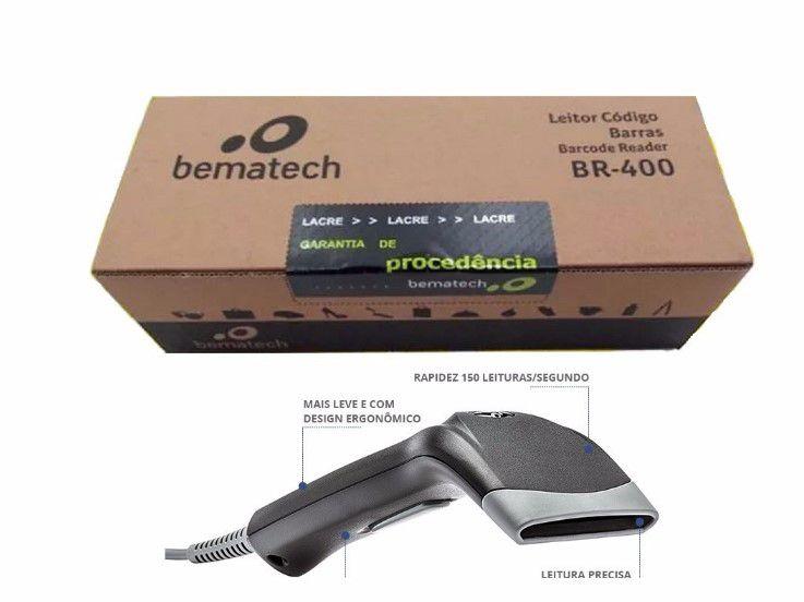 Leitor Código de Barras Bematech BR-400 USB Preto