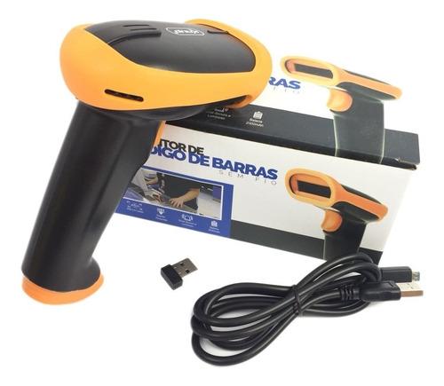 Leitor de Código de Barras Sem Fio Laser Knup KP-1018