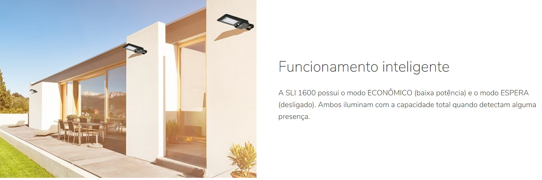 LUMINARIA SOLAR INTELBRAS SLI 1600 15W/1600LM