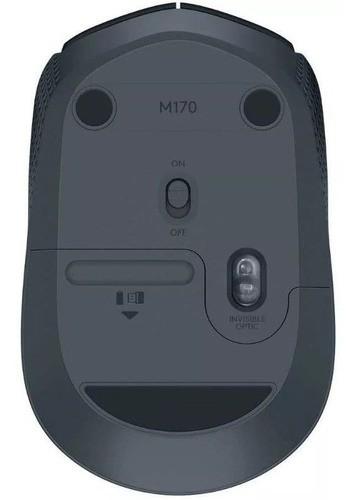 Mouse Logitech M170 Wireless Nano Preto